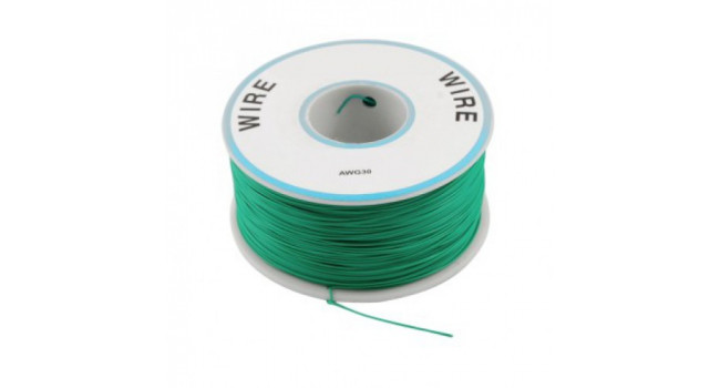 Wire 30AWG PVC - Green 305M