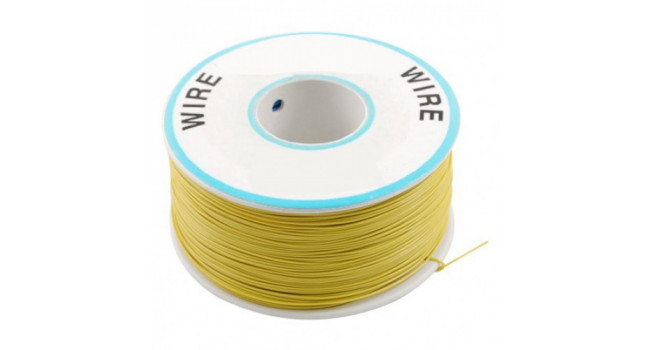Wire 30AWG PVC - Yellow 305M