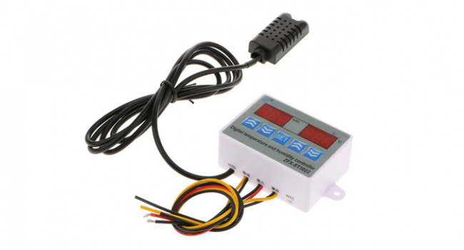 Temp & Hum Controller + Display - 220V