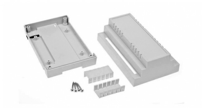 Enclosure Din Rail Mount 88X138X62 ABS White