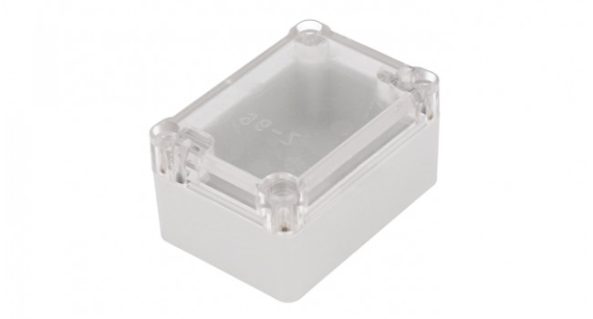 Case 50x70x36mm - Clear Lid White