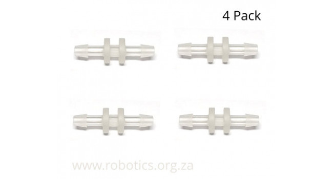 Inline Tube Connector, Straight, Type 18  (4 Pack)