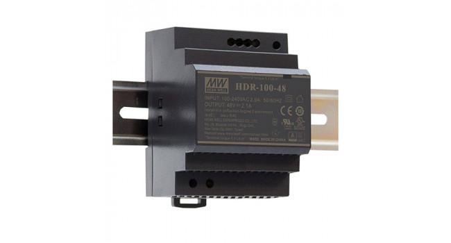 Mean Well 48V 1.9A 100W Din Rail