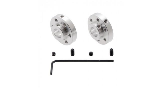 Universal Aluminum Mounting Hub for 8mm Shaft, M3 Holes (2-Pack)