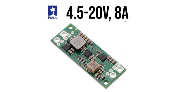 Pololu Boost Regulator, Vin 2.9-20V, Vout 4.5-20V 8A, Fine Adjust
