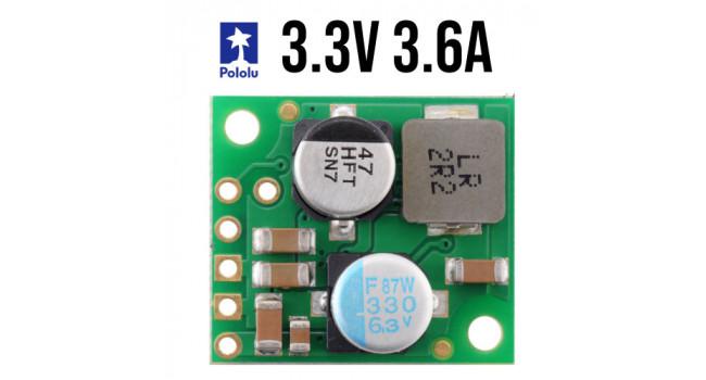 Pololu Buck Regulator, Vin 4.5-50V, Vout 3.3V 3.6A