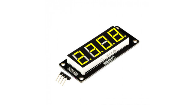 "4-Digit LED 0.56"" Display Tube YELLOW"