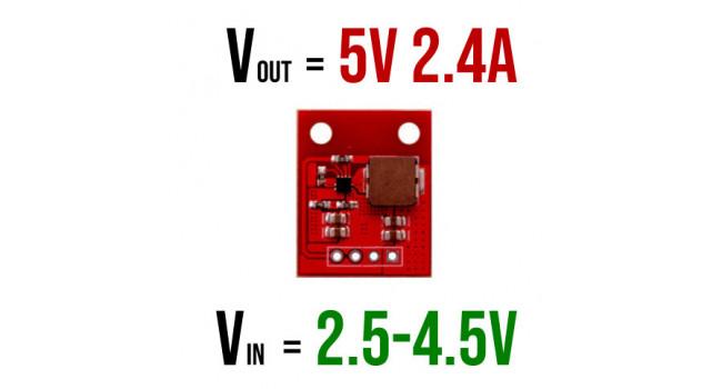 Boost Regulator Vin 2.5-4.5V, Vout 5V 2.4A
