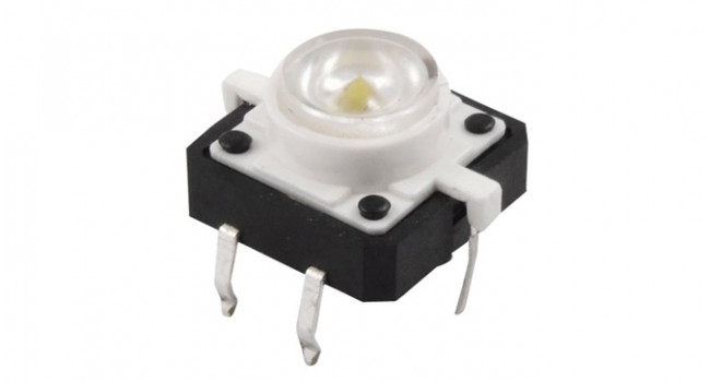 Tactile Button - White LED
