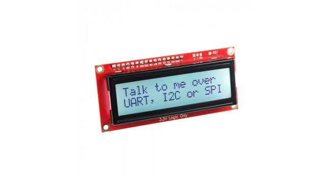 LCD 16x2 Black on RGB 3.3V I2C, Serial, SPI