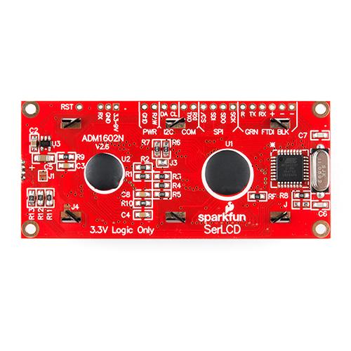 LCD 16x2 Black on RGB 3 3V I2C, Serial, SPI