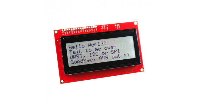 LCD 20x4 LCD Black on RGB 3.3V - Serial