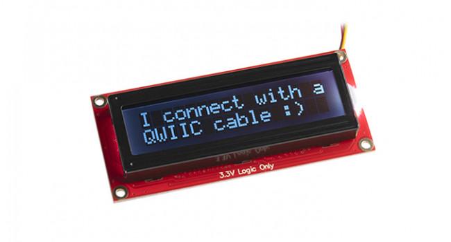 SparkFun 16x2 LCD RGB Text - Qwiic