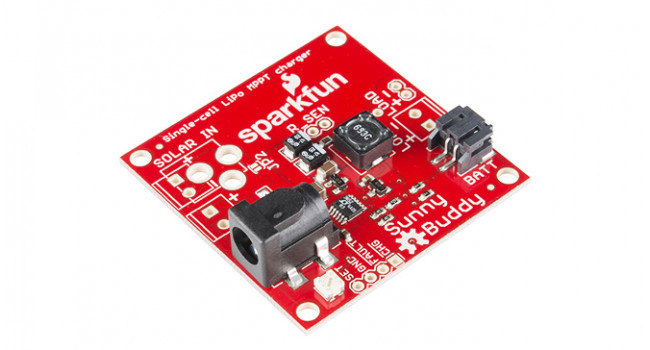Sparkfun, Sunny Buddy MPPT Solar Charger, Solar In 6-20V, Charge Current 450mA