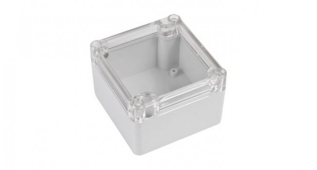 ABS IP65 Case 80 x 82 x 55 - Clear Lid