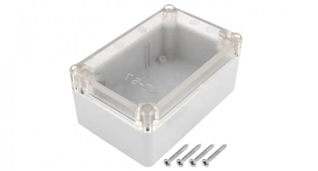 ABS IP65 Case 118x78x54 Grey - Clear Lid