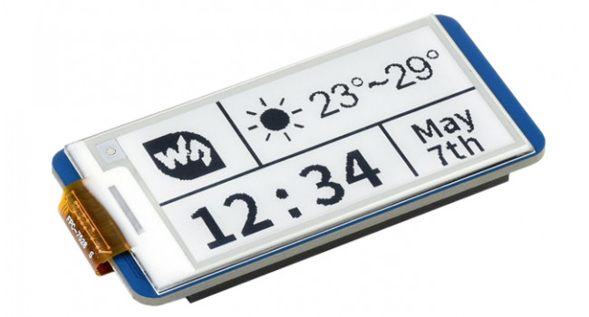 """Wave 2.13"""" E-Ink Display for Pi Pico"""