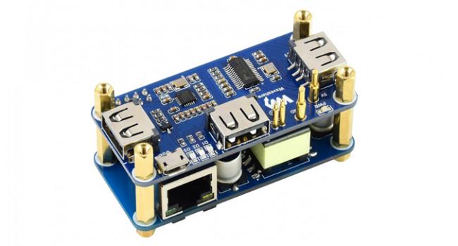 Wave POE/ETH/USB HUB HAT for Pi Zero