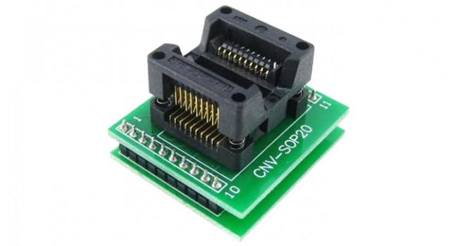 Program Adapter SOP20 to DIP20