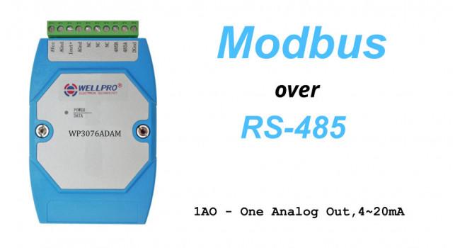 WELLPRO RS-485 MODBUS RTU, 1 X Analogue Out 4-20mA