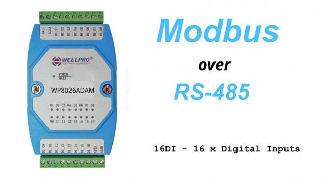 WELLPRO RS-485 MODBUS RTU, 16 x Digital Inputs