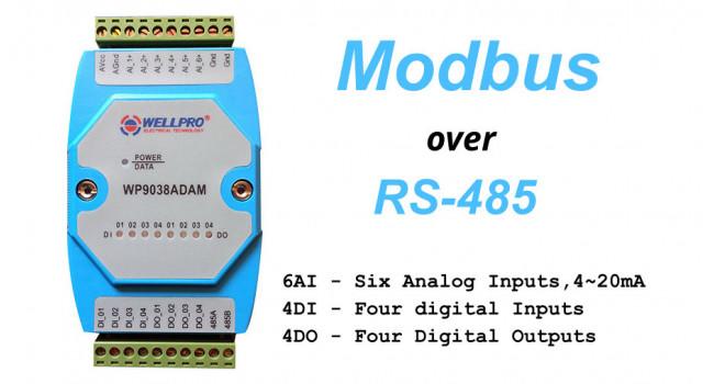 WELLPRO RS-485 MODBUS RTU 6AI-4DI-4DO
