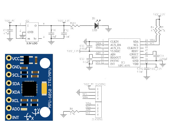 Mpu6050 Triple Axis Accelerometer   Gyro 6dof