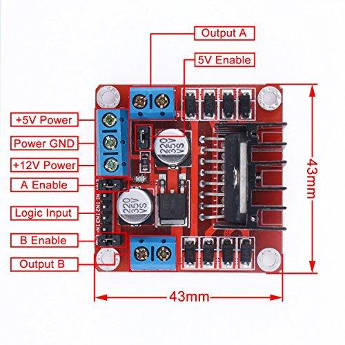 Resultado de imagem para L298N Dual H-Bridge Motor Driver