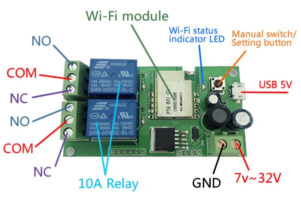 Motor Wifi Wireless Switch Micro Robotics